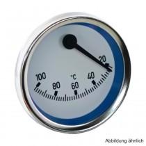 Kontakt-Thermometer exzentrisch, blau