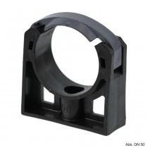 PP Rohrschelle mit extra Halteclip, 40 mm, schwarz