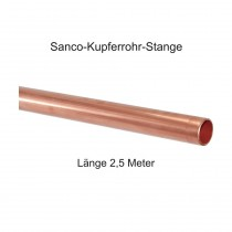 Sanco Kupfer Installationsrohr in 2,5 m Stangen, 6 x 1 mm