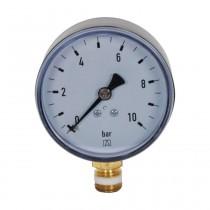 """Manometer 1/4"""" unten, 0-10 bar, Gehäuse 63mm"""
