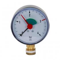 """Manometer 3/8"""" unten, 0-4 bar, Gehäuse 63mm"""