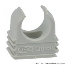 OBO Quick-Schelle M16, lichtgrau, 100 Stück