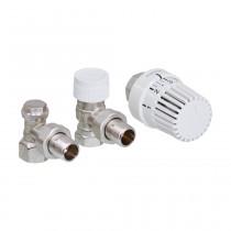 Oventrop HK-Ventil-Anschluss-Set für Purmo-4-Muffen-HK. Eckform