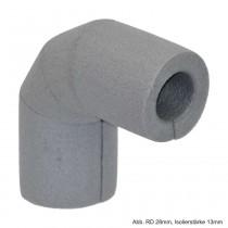 Isolierbogen 90° aus PE-Weichschaum, RD 15mm / Isolierstärke 27mm
