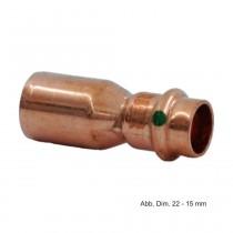 Viega Profipress Reduzierstück Kupfer, Serie 2415.1, 15 x 12 mm