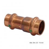 Viega Profipress Muffe Kupfer, reduziert, Serie 2415.2, 18 x 15 mm