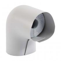 Isolierbogen aus PU-Weichschaum, mit PVC-Ummantelung, RD 35mm/Isolierstärke 30mm