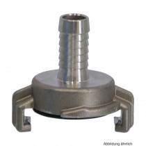 Edelstahl 316 Schnellkupplung mit Schlauchtülle 13 mm, Knaggenabstand 40 mm