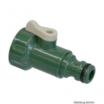PVC-U Hydro-Fit Absperrhahn, Klickstecker x IG, Jade Grün