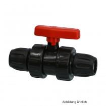 PP Kugelhahn mit Klemmverbindung, Typ Safe 500, Klemm, 10 bar, 32 mm