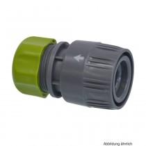 PVC-U Hydro-Fit Kupplung, Klemm x Klickmuffe 15-19 mm, Grau/Grün