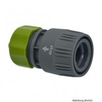PVC-U Hydro-Fit Kupplung mit Wasserstop, Klemm x Klickmuffe 15-19 mm, Grau/Grün