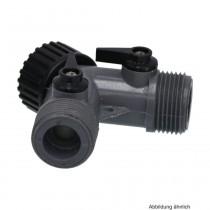 """PVC-U Hydro-Fit 3-Wege Verteiler, IG x AG x AG, 3/4"""", Grau"""