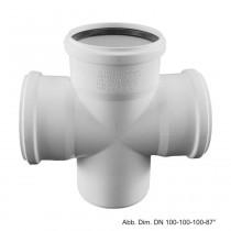 Rehau Schalldämmender Raupiano Plus Doppel-Abzweig max flow DN 90-90-90, 87°