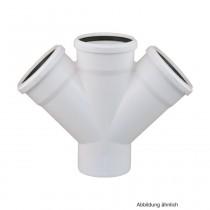 Rehau Schalldämmender Raupiano Plus Doppel-Abzweig DN 110-110-110, 45°