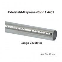 Geberit Mapress Edelstahl Systemrohr 1.4401, Länge 2,5m, 54 X 1,5 mm