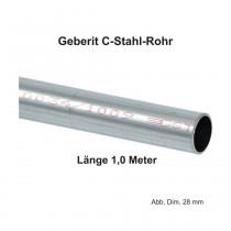 Geberit Mapress C-Stahl Rohr, außen verzinkt, 1,00 m Stange, 15 x 1,2 mm