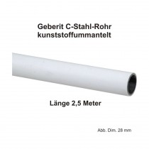 Geberit Mapress C-Stahl Rohr, kunststoffummantelt, 2,5 m Stange, 18 x 1,2 mm