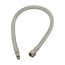 """Flexibler Verbindungsschlauch M8x1 kurz x 3/8"""" Überwurfmutter, L: 500 mm"""