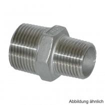 """Edelstahl Reduktions-Doppelnippel, Serie 245, 3/4"""" x 1/2"""""""