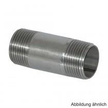 """Edelstahl Rohrdoppelnippel mit 2 Außengewinde, 1"""" x 60mm"""