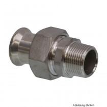 """SEPPELFRICKE Edelstahl XPS331G, Durchgangsverschraubung I/AG, 22 mm x 3/4"""""""