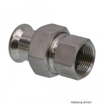 """SEPPELFRICKE Edelstahl XPS330G, Durchgangsverschraubung I/IG, 22 mm x 3/4"""""""