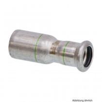 SEPPELFRICKE Edelstahl XPS243, Reduzierstück, 22 x 15 mm