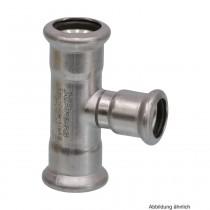SEPPELFRICKE Edelstahl XPS130R, T-Stück reduziert, 22-15-22 mm