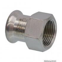 SEPPELFRICKE Edelstahl XPS270G, Übergangsmuffe I/IG mm, 22 x 3/4 mm