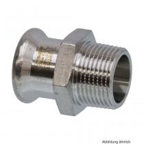 SEPPELFRICKE Edelstahl XPS243G, Übergangsnippel I/AG, 18 x 1/2 mm