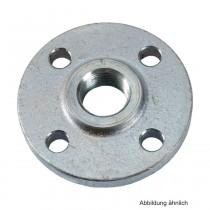"""Gewindeflansch aus Stahl, verzinkt, PN 16, LK d=110mm, SZ = 4, DN 40 (1 1/2"""")"""