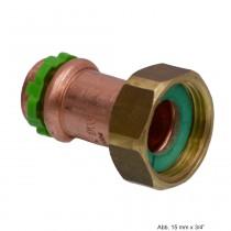 """SEPPELFRICKE Sudo-Press Kupfer halbe Verschraub. mit Presstülle fld, 15mm x 1/2"""""""