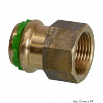 "SEPPELFRICKE Sudo-Press Kupfer/Rotguss VC270G Übergangsmuffe mit IG, 12mm x 1/2"""