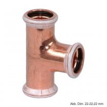 Geberit Mapress Kupfer T-Stück, 22-18-22 mm