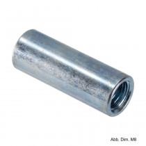 Verbindungsmuffe, rund, verzinkt, M8 x 30 mm