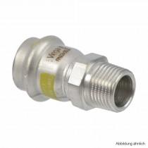 """Viega Sanpress Inox-G Übergangsstück mit AG, 22 mm x 3/4"""""""
