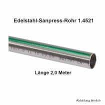 Viega Edelstahlrohr Sanpress nickelfrei 1.4521 in 2,0 m Stange, 15 x 1 mm