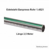 Viega Edelstahlrohr Sanpress nickelfrei 1.4521 in 2,5 m Stange, 28 x 1,2 mm