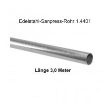 Viega Edelstahl-Sanpress-Rohr 1.4401, Länge 3,0m, 22 x 1,2 mm
