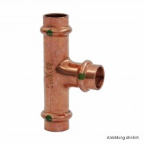 Viega Profipress T-Stück Kupfer, Serie 2418, 12-15-12 mm