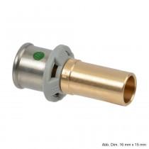 Viega Sanfix P-Einsteckstück gerade, für metallene Systeme, Modell 2113, 16x18mm