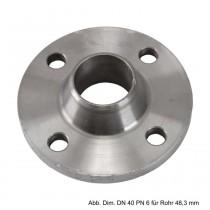 Vorschweißflansch aus Stahl, schwarz, PN 10/16, LK d=145mm, SZ=4, DN 65 - 76,1mm