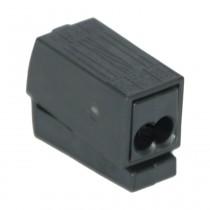 Wago 2-Leiter-Leuchtenklemme, 0.5-2.5 mm² e+f, 2x1-2.5 mm², 10 Stck., schwarz