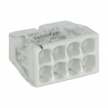 Wago Compact Dosenklemme 8fach, 0.5-2.5 mm², Geh. transparent, 10 Stck., grau