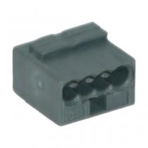 Wago Micro-Dosenklemme 0.6-0.8 mm² e, 4fach, 10 Stck., dunkelgrau 243204-10