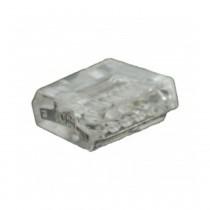 Wago Dosenklemme 5fach, 5x0.75-1.5 mm² e, 18A, 10 Stck., transparent 273155-10