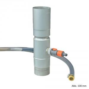 Regensammler Zink 6-tlg./100 mm mit Wasserschlauchset, blaugrau