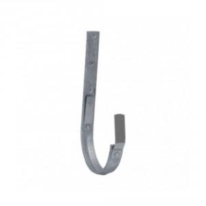 Rinnenhalter 7-teilig/280mm, 30 x 4mm, verzinkt, halbrund mit 2 Federn, kurz