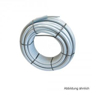 Viega Raxofix PE-Xc/AI/PE-Xc-Rohr 25 x 2,7mm in 1mm Wärmedämmung, grau, 25m Ring